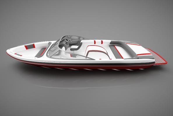 现代风格小船3D模型【ID:443145808】