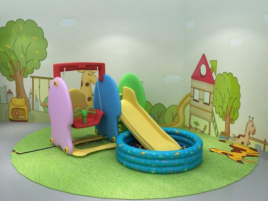 現代兒童玩具3D模型【ID:951360890】