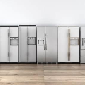现代冰箱组合3D模型【ID:235237686】