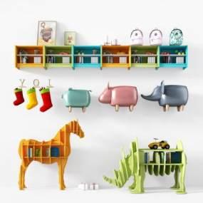 儿童房玩具3D模型【ID:330607400】