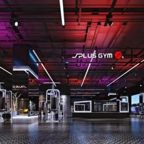 现代健身房3D模型【ID:734777872】