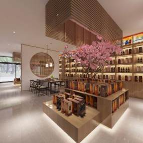 中式烟酒店3D模型【ID:130431289】