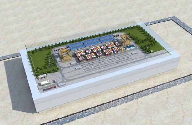 現代沙盤產業園廠房3D模型【ID:242053042】