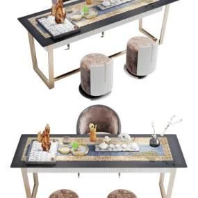 新中式茶桌3D模型【ID:853210879】
