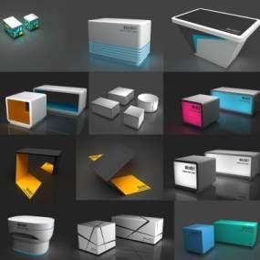 现代展台设计台体3D模型【ID:935618994】