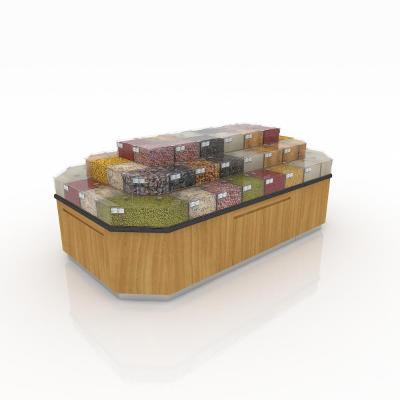 超市生鮮區散貨糧食展示中島架3D模型【ID:140646118】