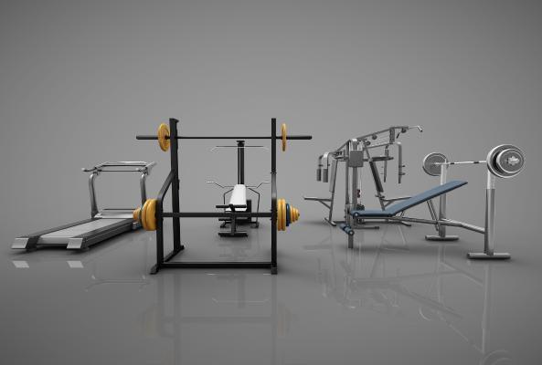 現代風格器材3D模型【ID:345262802】