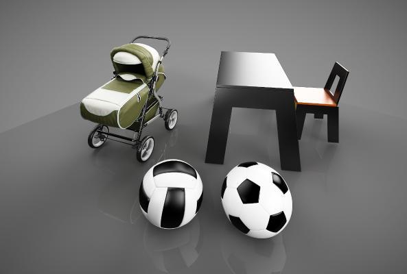 现代幼儿用品3D模型【ID:433234166】