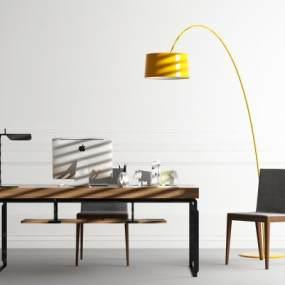 現代書桌椅3D模型【ID:942470053】