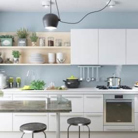 现代厨房3D模型【ID:534705377】