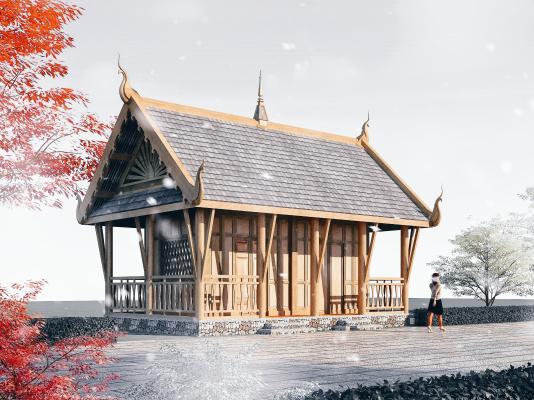 東南亞風格酒店3D模型【ID:146170986】