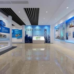 现代企业科技展厅3D模型【ID:944233725】