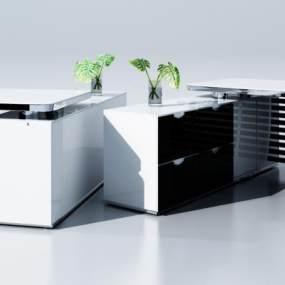 北欧办公桌3D模型【ID:935746102】