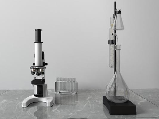 現代顯微鏡3D模型【ID:433775544】