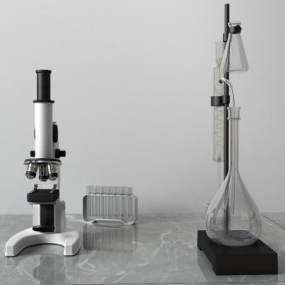 现代显微镜3D模型【ID:433775544】
