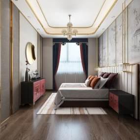 新中式卧室3D快三追号倍投计划表【ID:533696209】