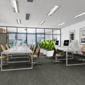 现代办公室3D模型【ID:953402062】