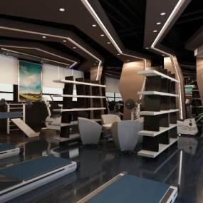 现代健身房3D模型【ID:953261964】