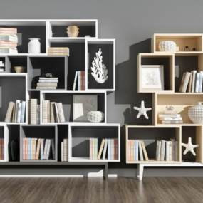 现代书柜3D模型【ID:144106522】