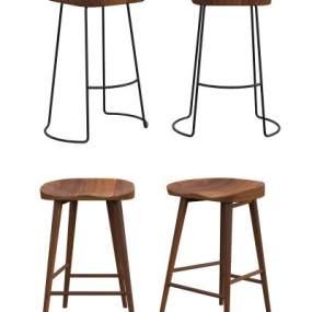 北欧实木吧椅3D模型【ID:732881213】