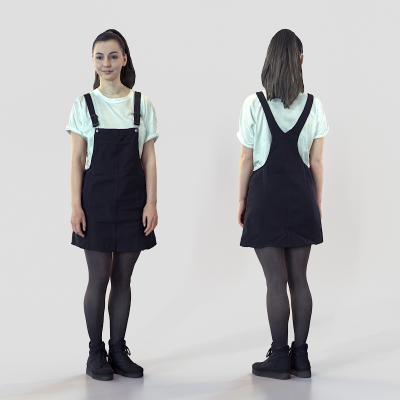 现代站姿女人3D模型【ID:345726049】