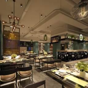 餐厅空间3D模型【ID:641314216】