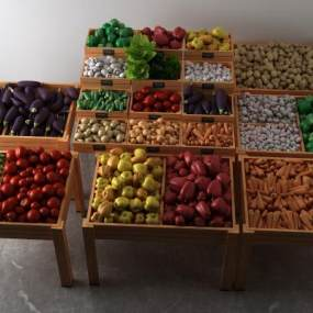 现代蔬菜组合3D模型【ID:234913577】