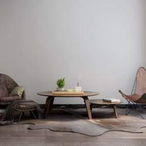 工业风休闲椅3D模型【ID:750377004】