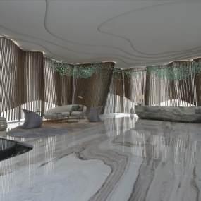 现代大厅3D模型【ID:746346021】