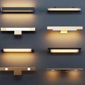 现代金属壁灯3D模型【ID:753352959】