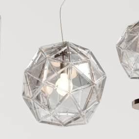 现代玻璃几何吊灯3D模型【ID:733069890】