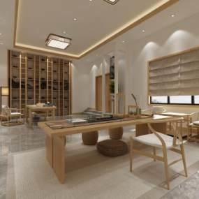 新中式茶室3D模型【ID:651770657】