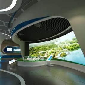 现代科技展厅3D模型【ID:943930782】