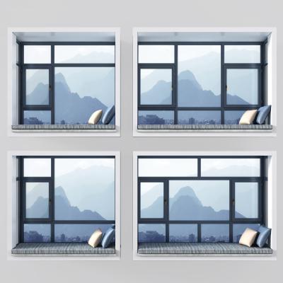 现代飘窗窗口窗户3D模型【ID:335625246】