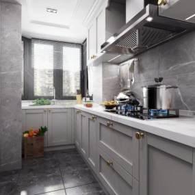 北欧厨房3D模型【ID:535751397】