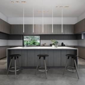 后现代风格厨房3D模型【ID:536231391】
