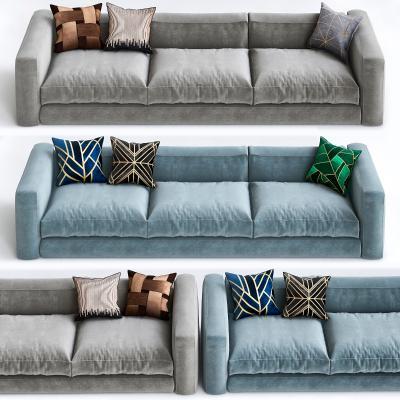 意大利Bonaldo现代布艺多人沙发国外3D模型【ID:632340659】