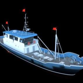 现代渔船海警船3D模型【ID:432497848】