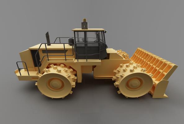 現代風格推土車3D模型【ID:443523658】