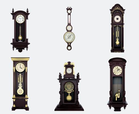 欧式时钟钟表3D模型【ID:330502372】