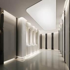 现代酒店卫生间 3D模型【ID:436066142】