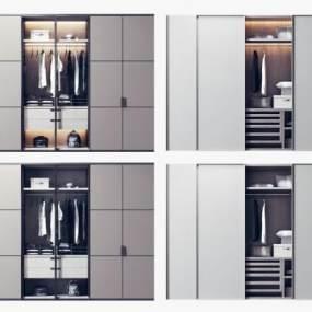 现代简约衣柜3D模型【ID:146943491】