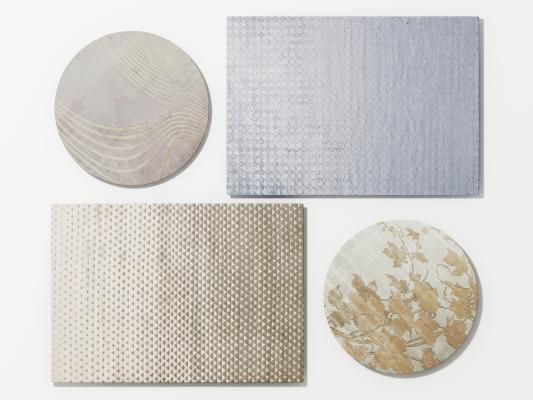 现代地毯组合3D模型【ID:342105272】