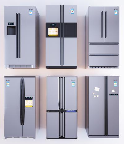 现代冰箱组合 双开门冰箱 冰箱