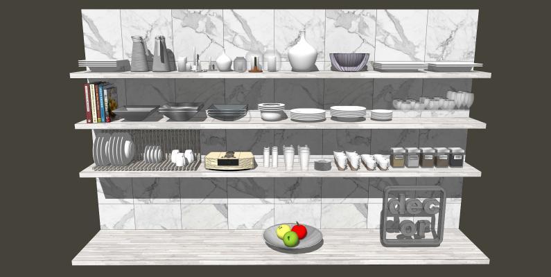 厨房SU模型【ID:744052398】