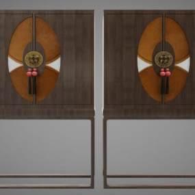 新中式风格装饰柜3D模型【ID:145672115】