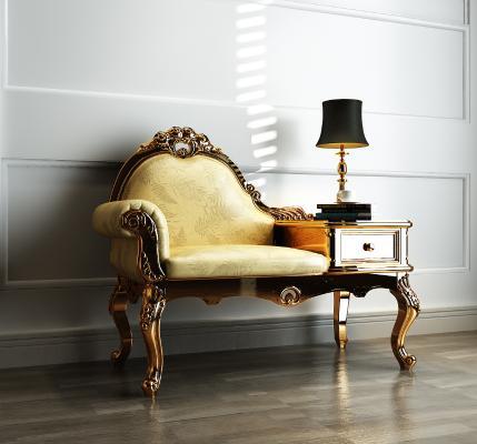 欧式电话椅3D模型【ID:732251796】