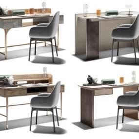 現代書桌組合3D模型【ID:952808089】