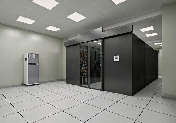 現代機房服務器3D模型【ID:434223392】