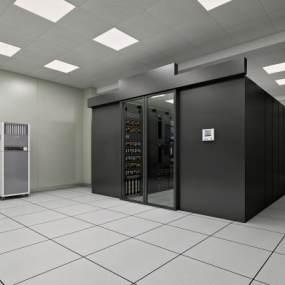 现代机房服务器3D模型【ID:434223392】